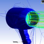 Hair Dryer Flow Simulation