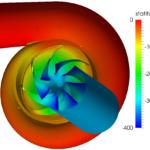 Total Pressure Distribution of Centrifugal Pump